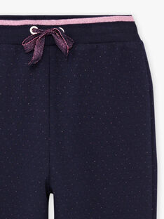 Pantaloni sportivi navy a pois bambina BROUETTE / 21H2PF32JGB070