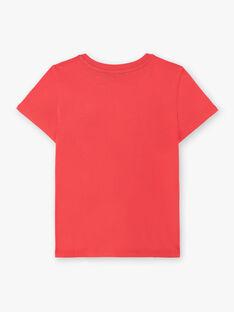 T-shirt rosso con motivo dinosauri ZUZAGE3 / 21E3PGL2TMC050