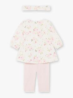 Abito e fascia stampa a fiori e leggings rosa nascita bambina BOUTAINA / 21H0CF43ENS001