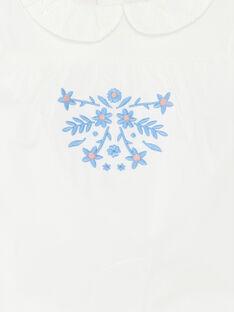 T-shirt con maniche ad aletta e colletto Peter Pan neonata ZAPLUME / 21E1BFT1BRA001