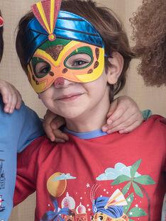 Pigiama fantasia rosso con pochette e maschera bambino ZIPIMAGE1 / 21E5PGF2PYTE412
