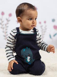 Salopette blu motivo dinosauro neonato BAJAMIE / 21H1BG91SAL715