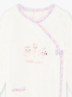 Tutina ecrù con motivi gatti neonata BEJOHANA / 21H5BF71GRE001