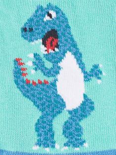 Calzini blu a contrasto dinosauro ZAFATAGE / 21E4PGJ1SOBG621
