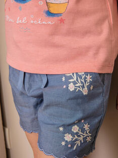 Shorts in jeans ricamati bambina ZUCHETTE / 21E2PFT1SHO721