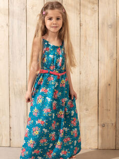 Abito a fiori blu laguna bambina TEUMETTE / 20E2PFX1RBS210
