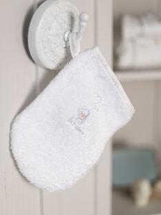 Asciugamano e guanto ecrù con motivo cagnolino nascita bambina BOELI / 21H0AM41POI001