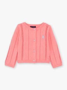 Cardigan rosa neonata ZAPAIGE / 21E1BFT1CARD313
