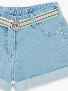Shorts in jeans azzurre bambina ZLOUETTE1 / 21E2PFL1SHOP272