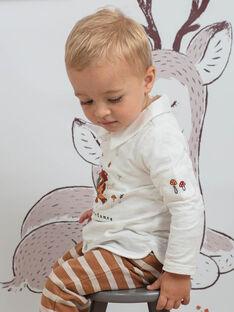 Polo maniche lunghe bianca con collo neonato BALIAM / 21H1BGJ1POL001