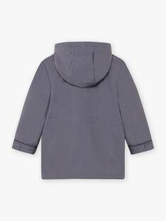 Impermeabile con cappuccio grigio 2 in 1 bambino BARIMPAGE / 21H3PGC2IMPJ912