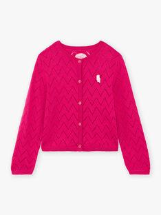 Cardigan maniche lunghe rosa bambina BOLILETTE / 21H2PF91CAR310