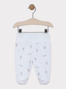Completo nascita cardigan e pantaloni con piedini in jersey neonato unisex SYANDRE / 19H0NM12ENS000