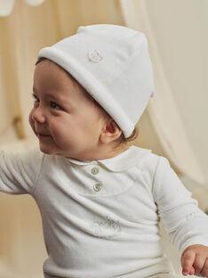 Tutina e berretto in velluto ecrù nascita unisex BOURGEOIS B / 21H0NMK2GRE001