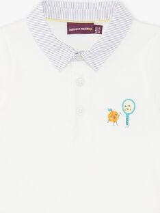Polo ecrù neonato ZAMATT / 21E1BGO1POL001