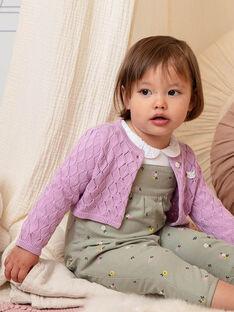 Cardigan rosa neonata BACAITLIN / 21H1BF22CAR329