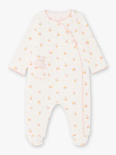 Tutina ecrù, gialla e rosa con stampa peluche bambina BEBELLE / 21H5BF64GRE001