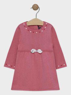 Abito in maglia rosa neonata SANINI / 19H1BFE2ROB307
