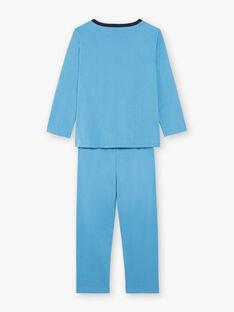 Pigiama fantasia blu con pochette e maschera bambino ZIPIMAGE3 / 21E5PGF3PYT702