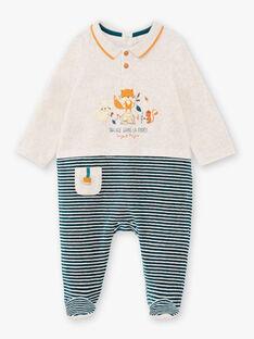 Tutina maniche lunghe a righe e motivi fantasia neonato BEARTHUR / 21H5BG62GRE943