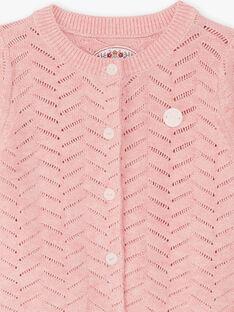 Cardigan rosa in maglia neonata BAINES / 21H1BFJ2CARD314