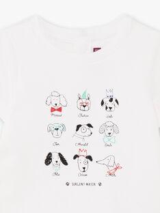 Body t-shirt maniche corte con stampa fantasia neonato BABEAN / 21H1BG11BOD001