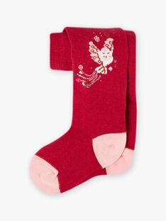 Collant rosa motivo civetta bambina BOLOETTE / 21H4PF91COL310