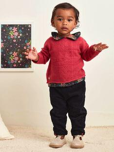Pantaloni neri in velluto a costine fiocco neonata BAMAELLE / 21H1BFM1PAN090