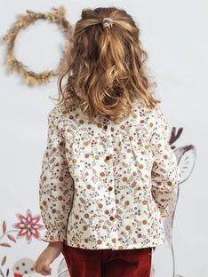 Camicia a maniche lunghe con stampa a fiori bambina BUVIETTE / 21H2PFJ1CHE001