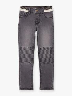 Jeans inserto nero ed elastico in vita bambino BASOTAGE / 21H3PG21JEA090