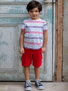 Bermuda rossi con tasche bambino ZINOAGE / 21E3PGT2BERF524