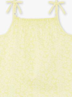 Canottiera gialla bambina ZLYNETTE3 / 21E2PFL3DEBB104