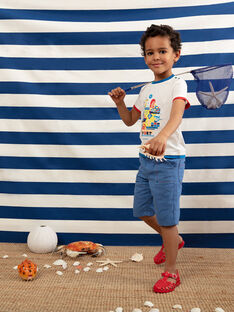 T-shirt maniche corte ecrù bambino TUDOBAGE / 20E3PGW1TMC001