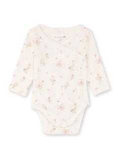 2 body ecrù e rosa nascita bambina BOUDOUR / 21H0NF41BOD301