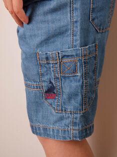 Bermuda in jeans con tasche bambino ZIAMAGE / 21E3PGT4BERP265