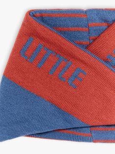 Scaldacollo blu e rosso in maglia ZANECAGE / 21E4PGM1SNO506