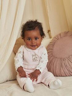 Completo salopette, body e calze con stampa fantasia nascita bambina BOERINA / 21H0CFK1ENS301