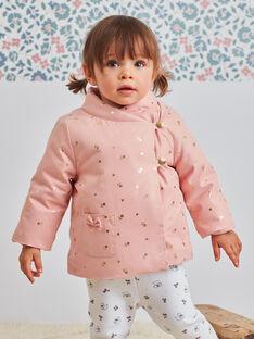 Cappotto impermeabile rosa neonata BIPALOMA / 21H1BFD1PAR303