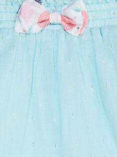 Water blue SKIRT TAQRISTINE / 20E1BFP1JUP213
