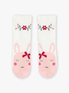 Calze ecrù motivi fiori e coniglio neonata BAGIGI / 21H4BF91SOQ001