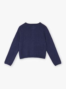 Cardigan blu orizzonte bambina ZOCHINETTE / 21E2PFB1CAR216