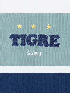 Felpa bianca e blu a righe in cotone ZAGRELAGE / 21E3PGI2SWE705