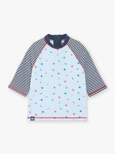 T-shirt anti-UV celeste bambino ZYUVAGE / 21E4PGR2TUVC218