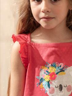 Canottiera rosa bambina TEUNIETTE / 20E2PFX2DEBF507