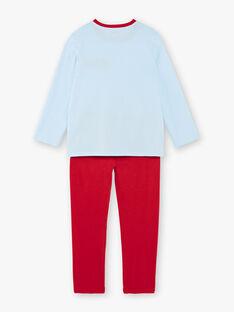 Pigiama rosso e blu bambino ZECOURAGE / 21E5PG14PYJC218