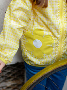 Giacca a vento gialla con cappuccio e stampa ZOUVICHETTE / 21E2PFM1CPV106