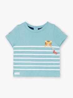 T-shirt blu chiaro in jersey ZAIBEY / 21E1BGI2TMC629