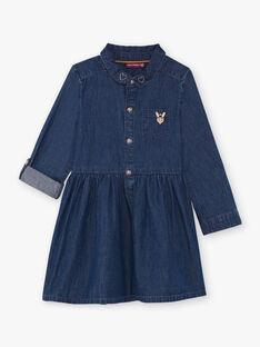 Abito in jeans blu bambina BIDENETTE / 21H2PF52ROBP274