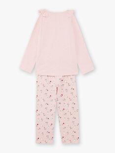 Pigiama t-shirt e pantaloni rosa bambina BEBARNETTE / 21H5PF64PYJD314