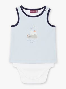 Body azzurro e bianco neonato ZAOLSEN / 21E1BGT1BOD213
